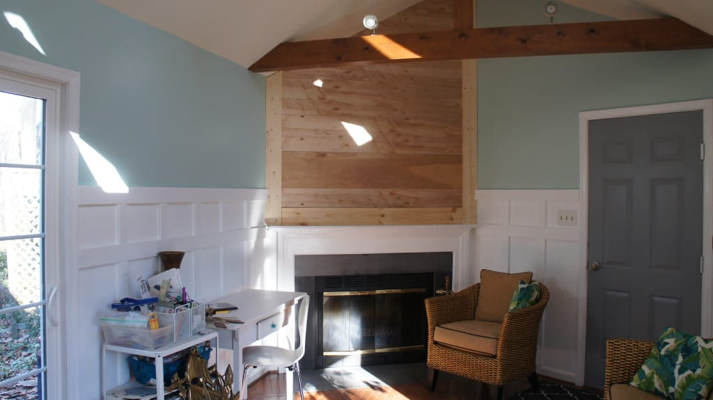 shiplap over fireplace