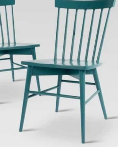 affordable dining chairs, teal windsor chair