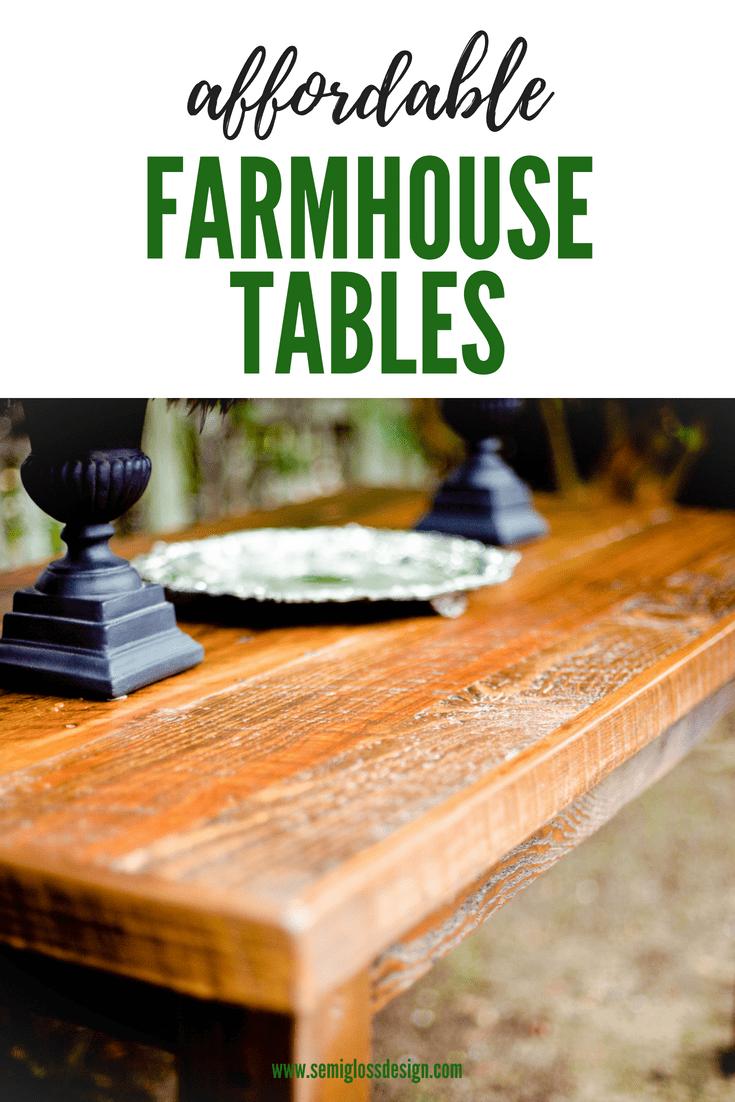 Budget friendly farmhouse table options