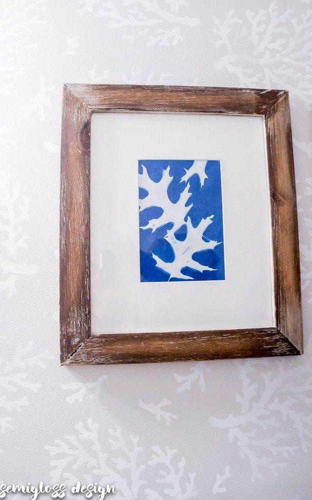leaf print on sun paper