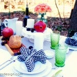 Outdoor Thanksgiving Table Setting