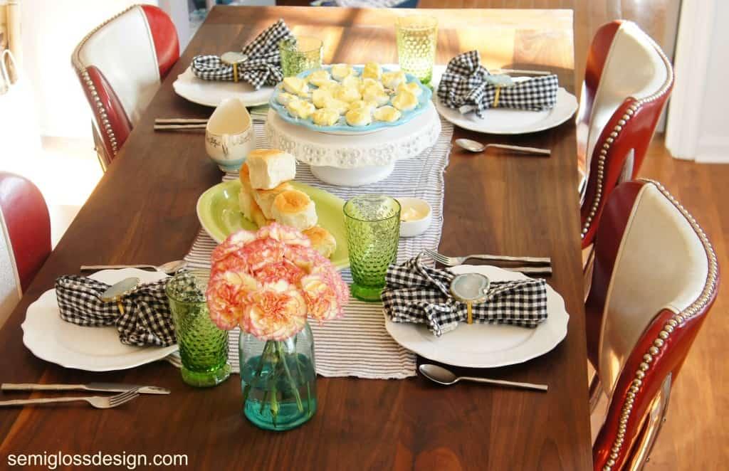 farmhouse table reveal