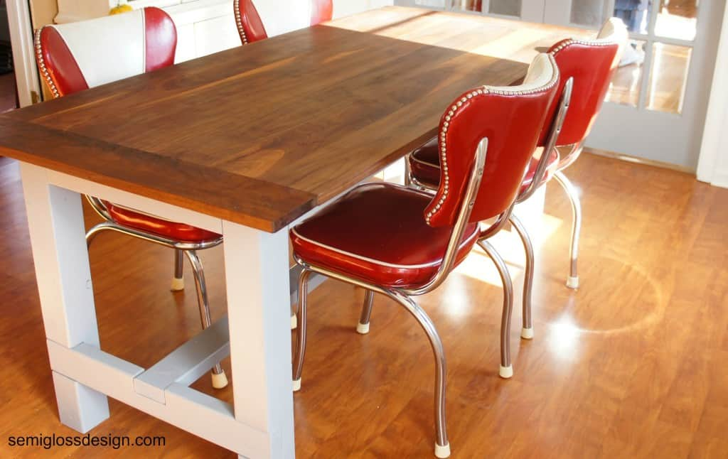 farmhouse table reveal