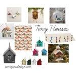 12 Days of Christmas Trees: Tiny houses tree