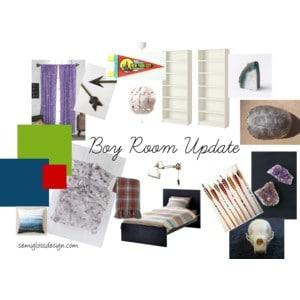 Boy room update plans
