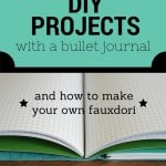 Organizing DIY Projects with a Bullet Journal