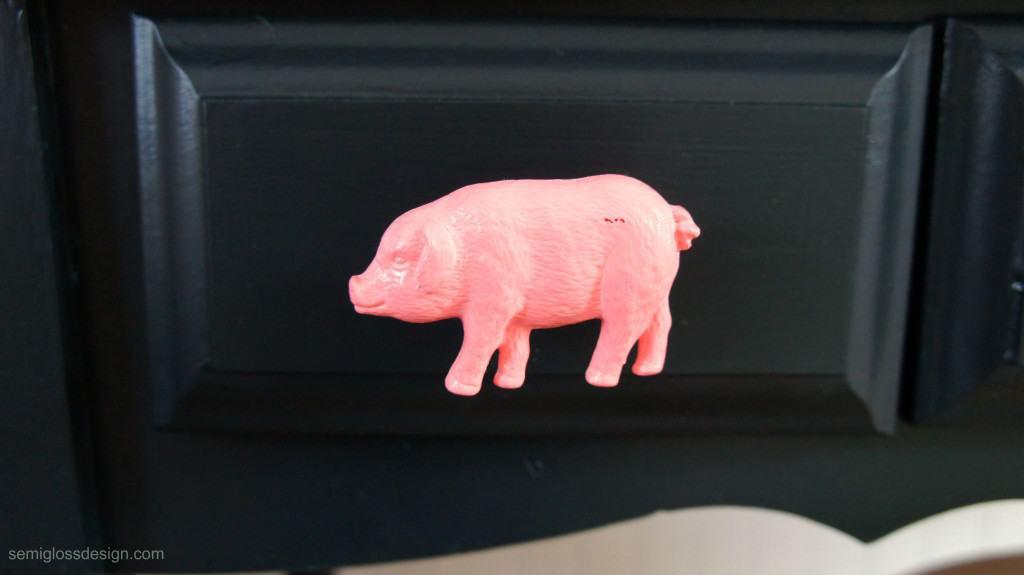 pink pig knob