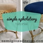 A Simple Upholstery Tutorial