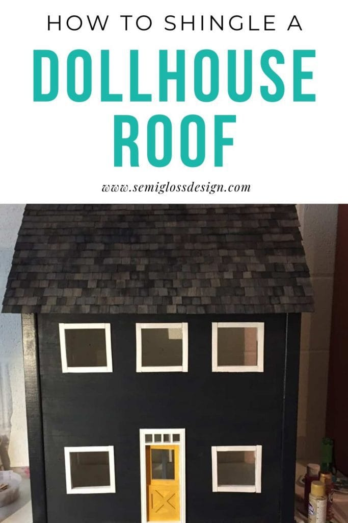 how to shingle a dollhouse roof