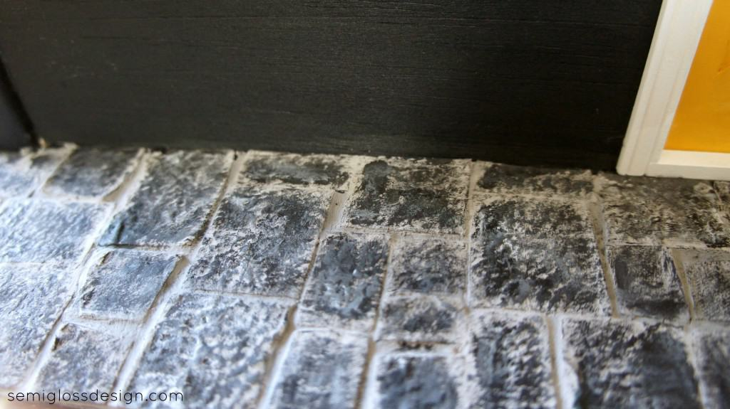 slate floor from egg cartons for dollhouse