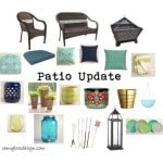 Patio Update: Navy, Aqua and Lime Accents