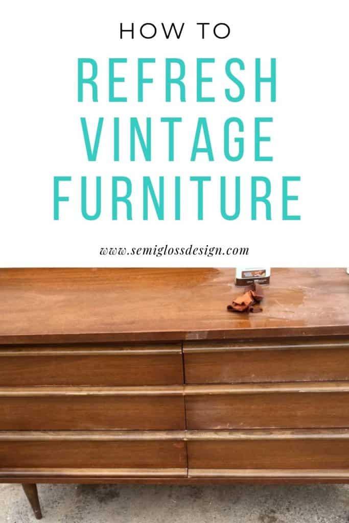 restore vintage furniture