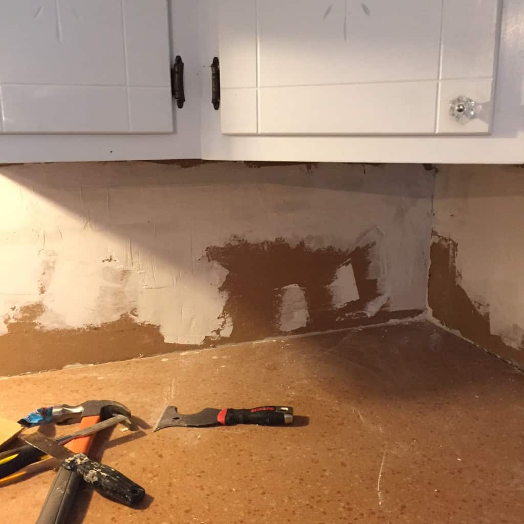 repaired walls in kitchen