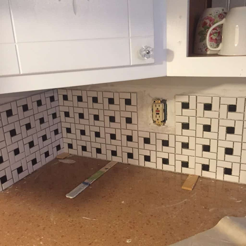using shims to help keep tile sheets level