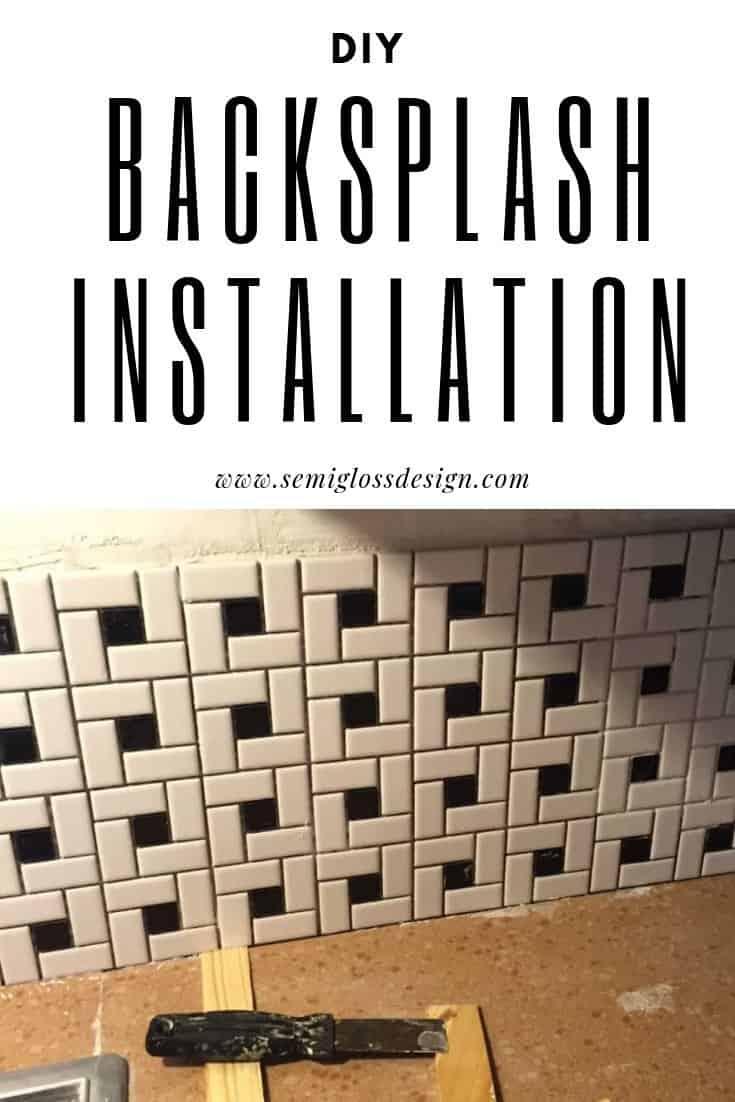 diy backsplash installation