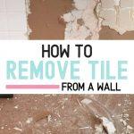 pin image - demoing a tile wall