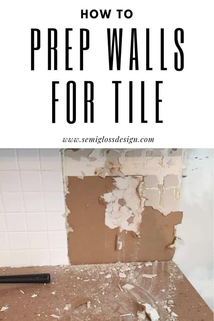 how to prep walls for tile backsplash