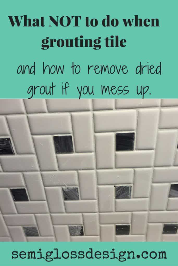 Grouting a backsplash. Plus tips to remove dried on grout in case you mess up. #backsplash #grout #kitchenupdate #kitchenmakeover