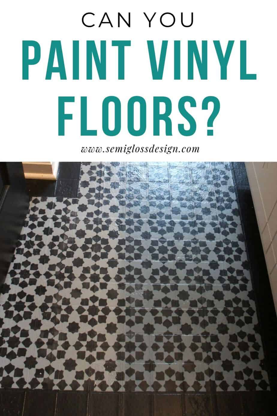 can you paint vinyl flooring?