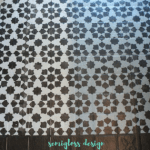 Stenciled floor: You can paint your ugly vinyl tile!