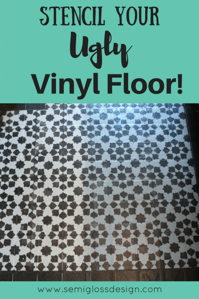 How to stencil a vinyl floor.