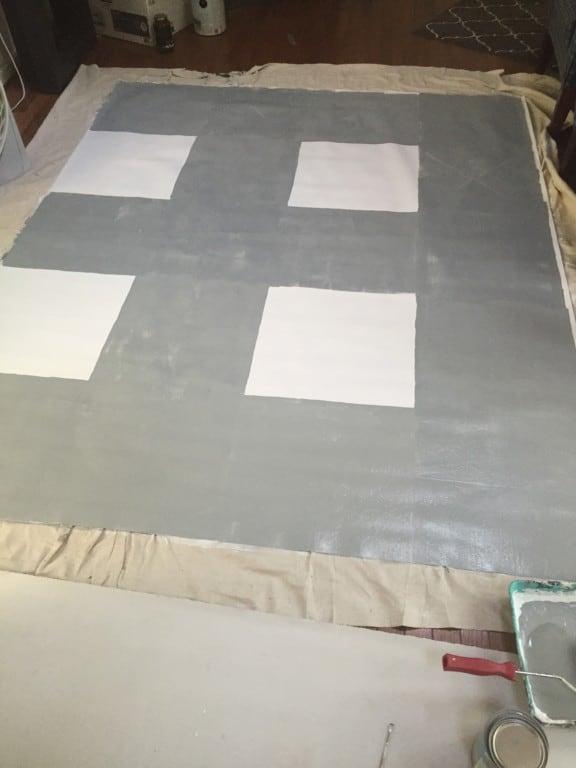 Diy Buffalo Check Painted Vinyl Floor Cloth Semigloss Design