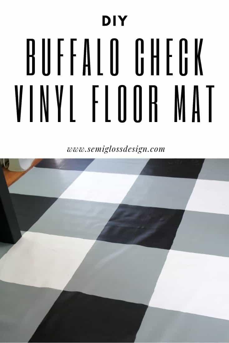 DIY buffalo check vinyl floor mat