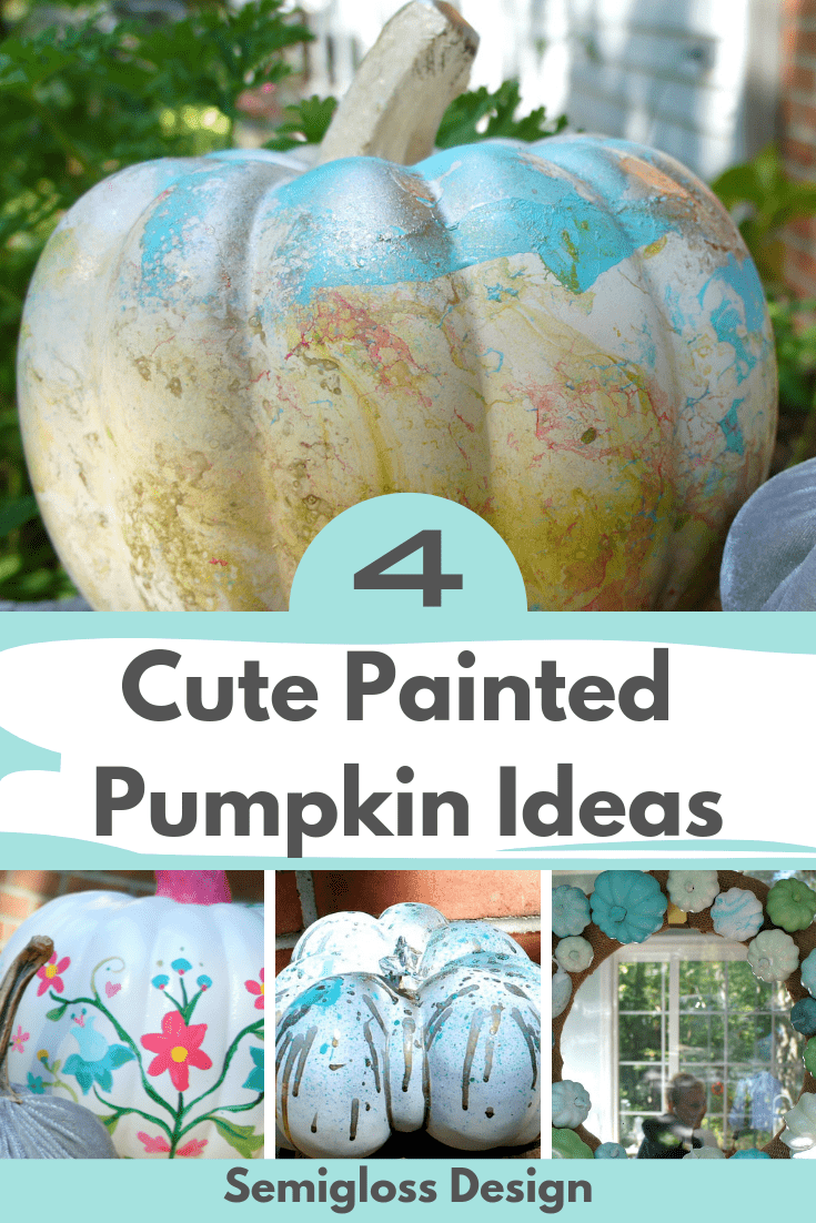 Four Ideas for Cute Painted Pumpkins for Fall that are Quick