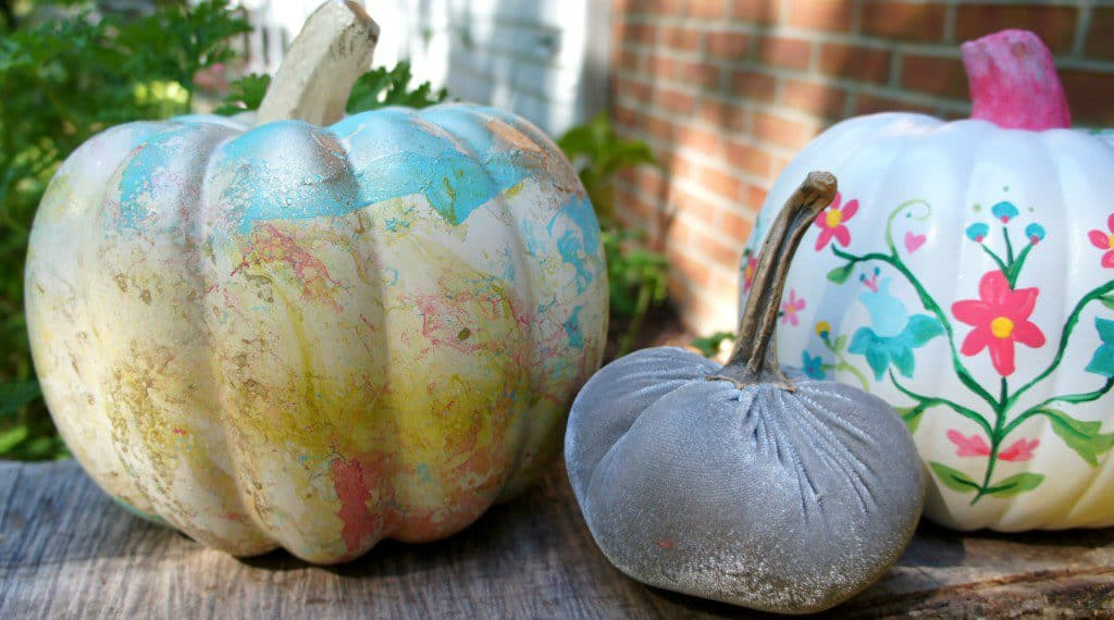 Marbleized pumpkins