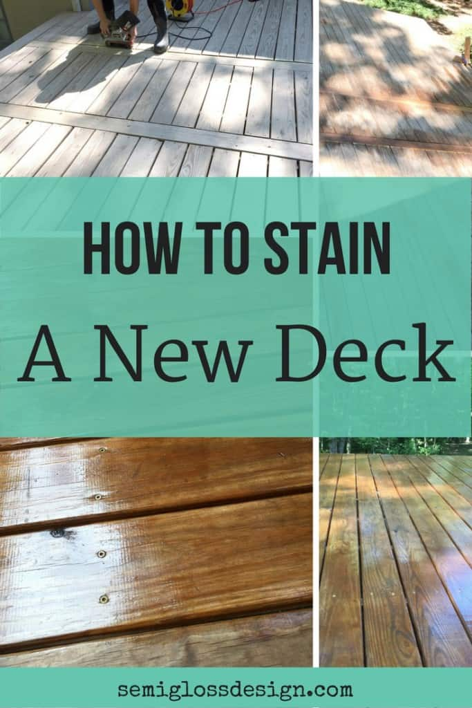 how-to-stain a new deck