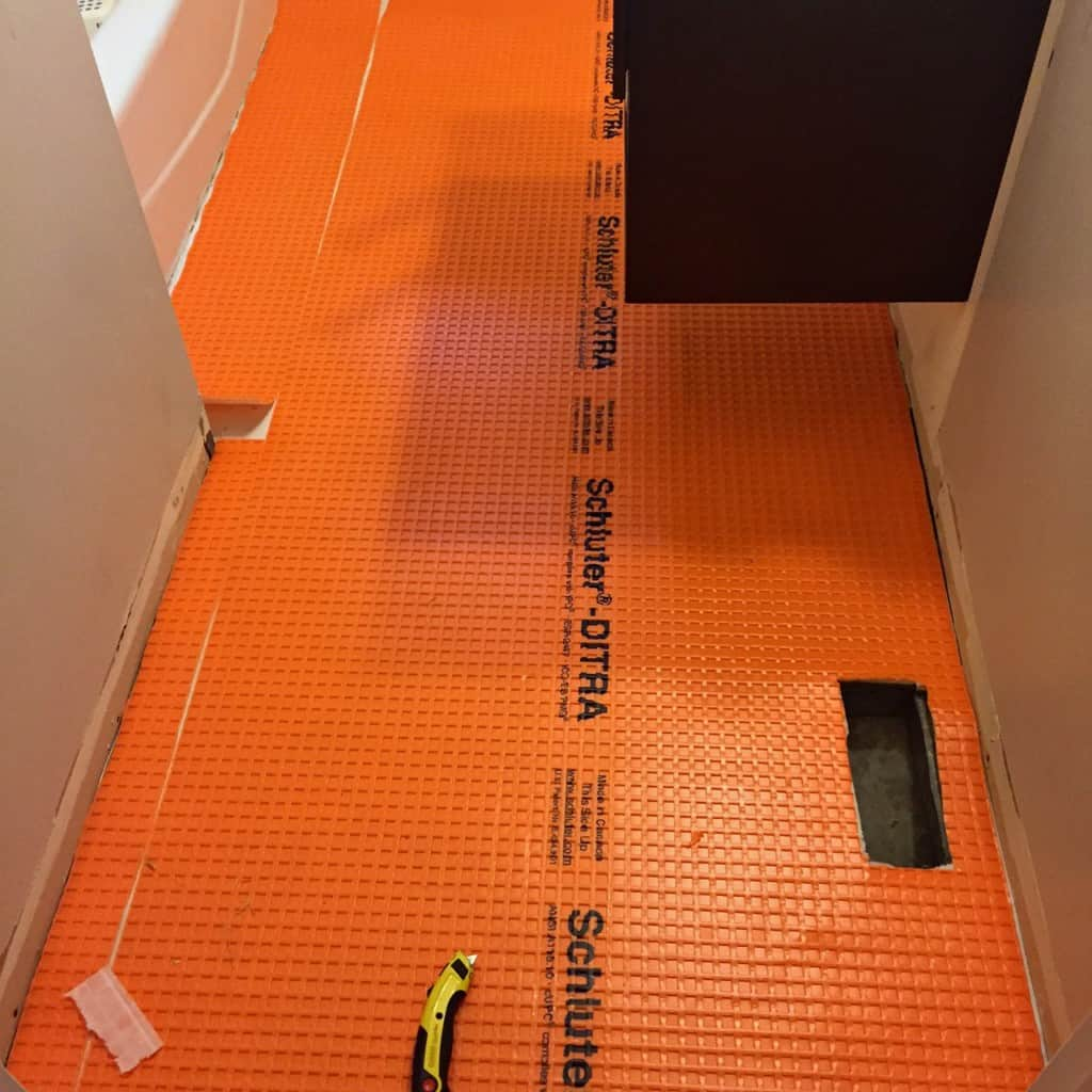 laying ditra underlayment