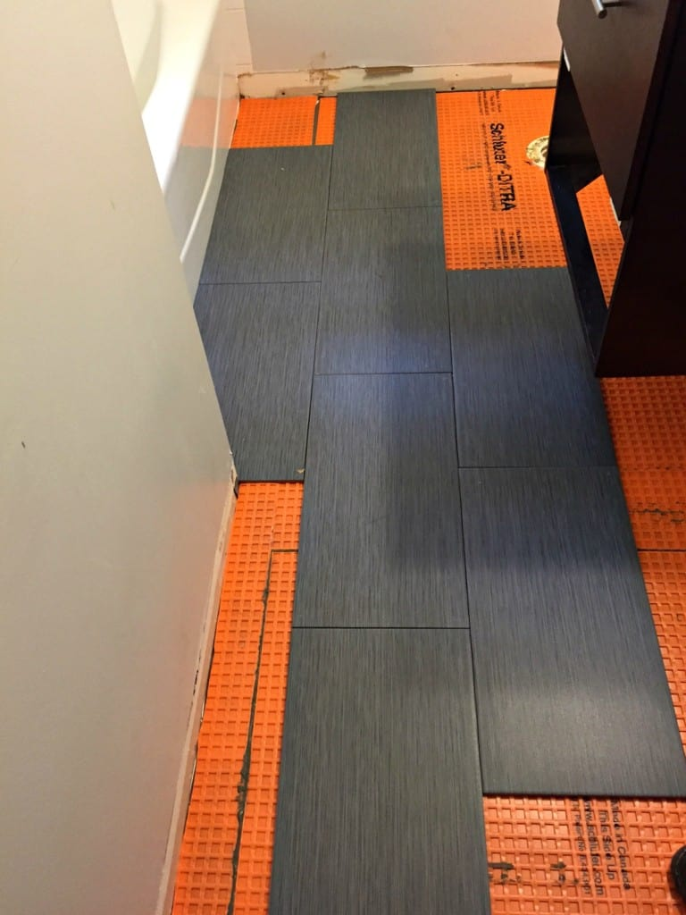 Tips for Installing a Tile Floor in a Bathroom - Semigloss ...
