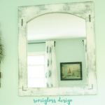 How to Make a Mirror Frame with a Farmhouse Look