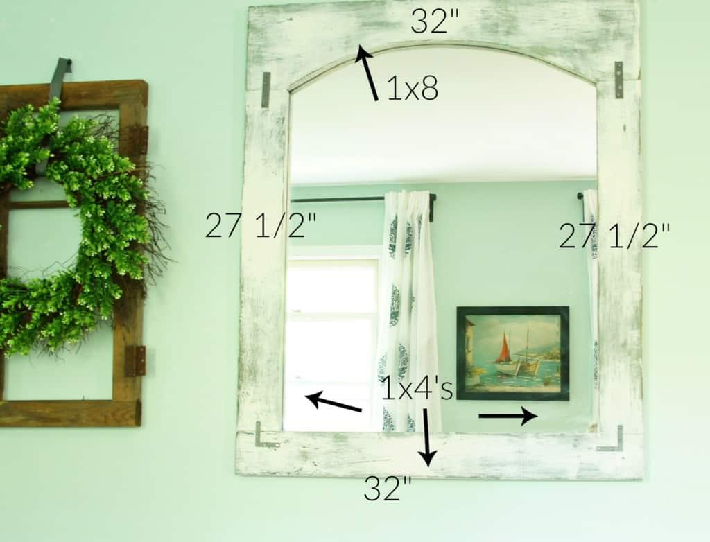 farmhouse mirror measurements