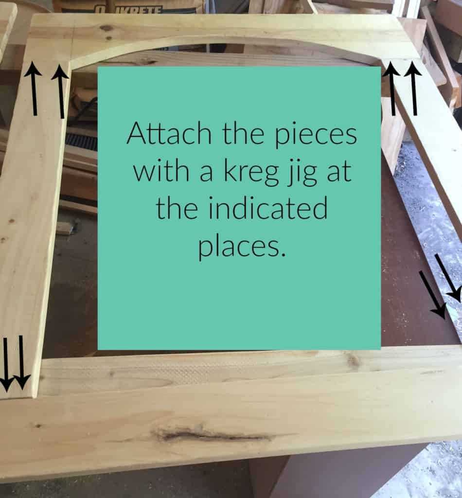 Attach sides of frame to tops and bottom with kreg jig