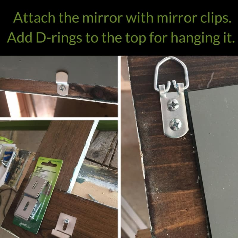 hardware for attaching mirror
