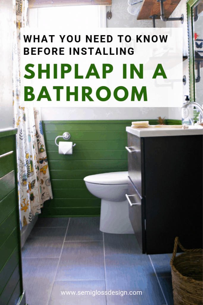 what to consider before installing shiplap in a bathroom