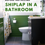 install shiplap in a bathroom