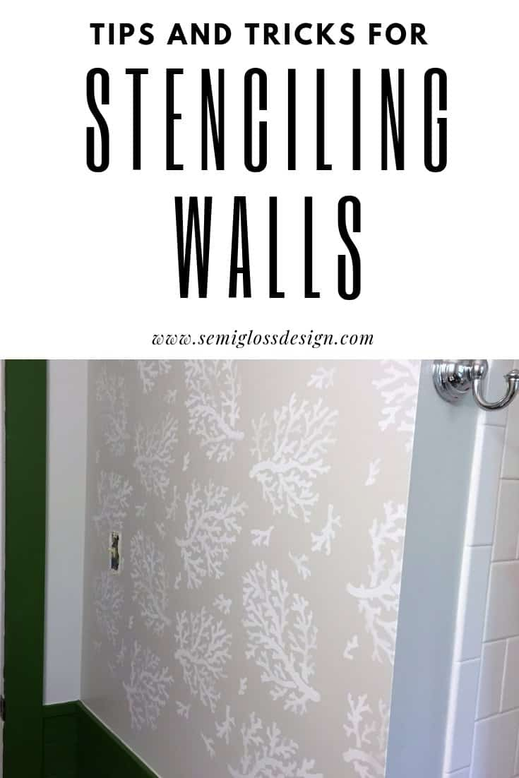 stenciling tips for walls