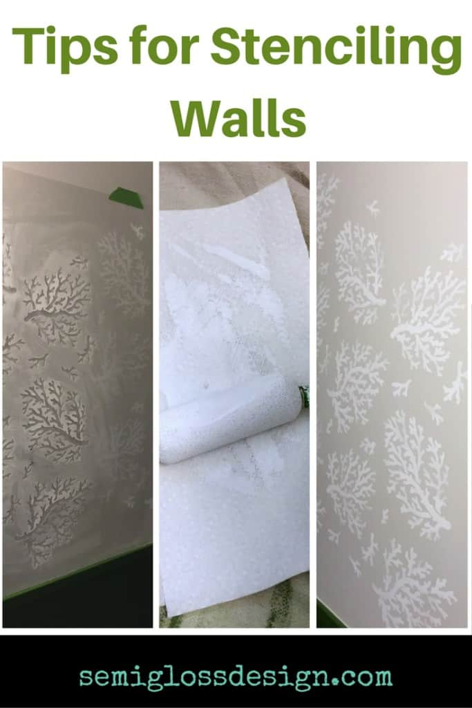 stenciling tips | stencil | stenciled walls | how to use stencils