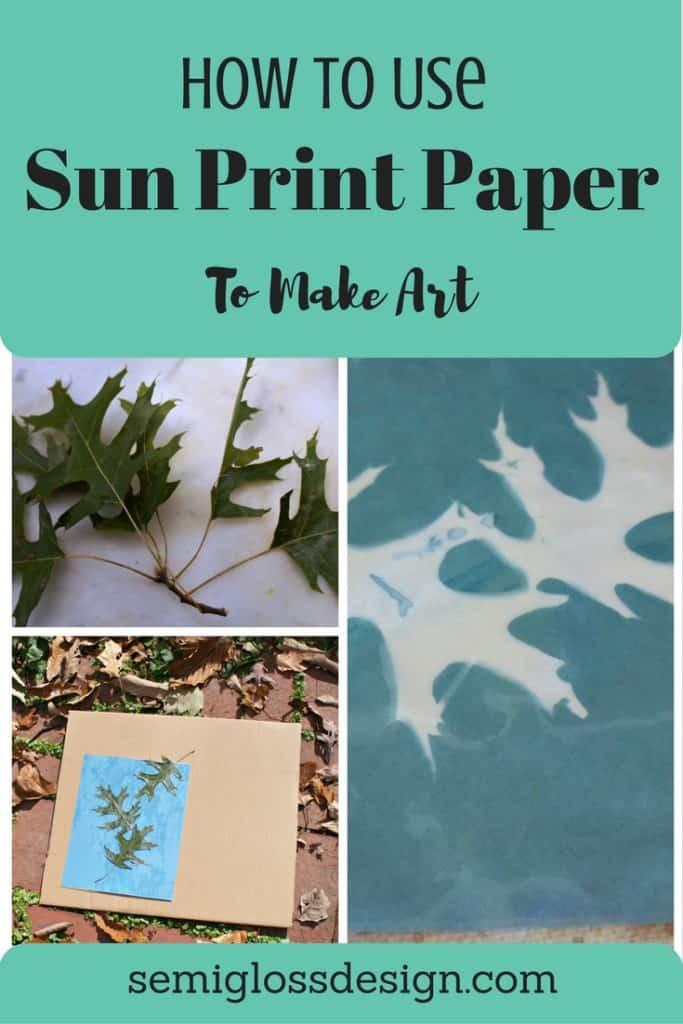 how to use sun print paper