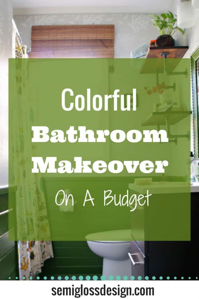 A colorful bathroom makeover on a budget is possible with easy DIY projects. Update your bathroom today. Click here to see how!
