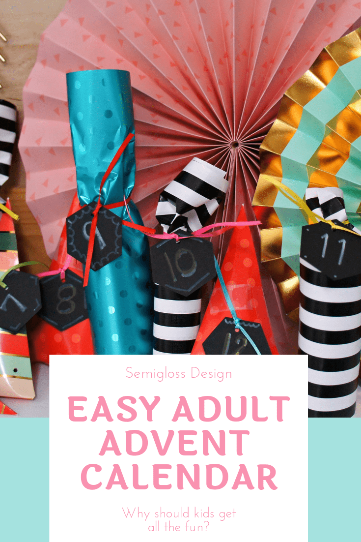 Easy adult advent calendar
