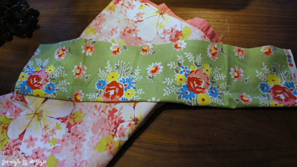 sew edge of cuff