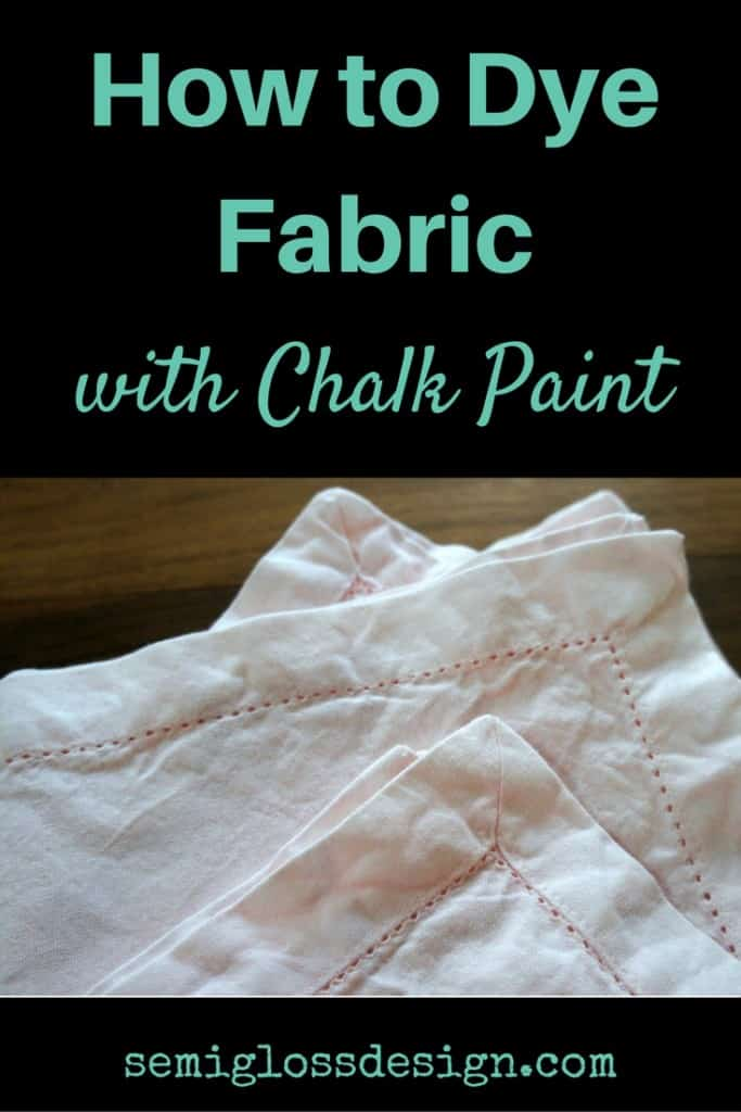 how to dye fabric with chalk paint