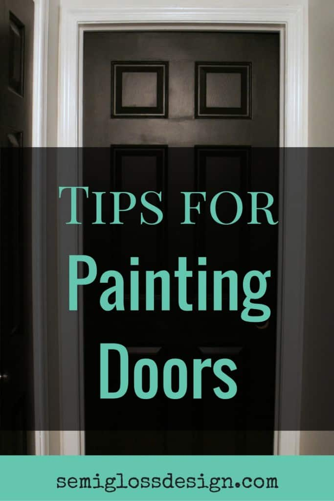 7 tips for painting doors. Make your next DIY project a snap with these tips!