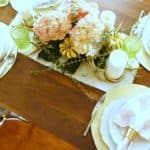 A Romantic Pink and Gold Tablescape