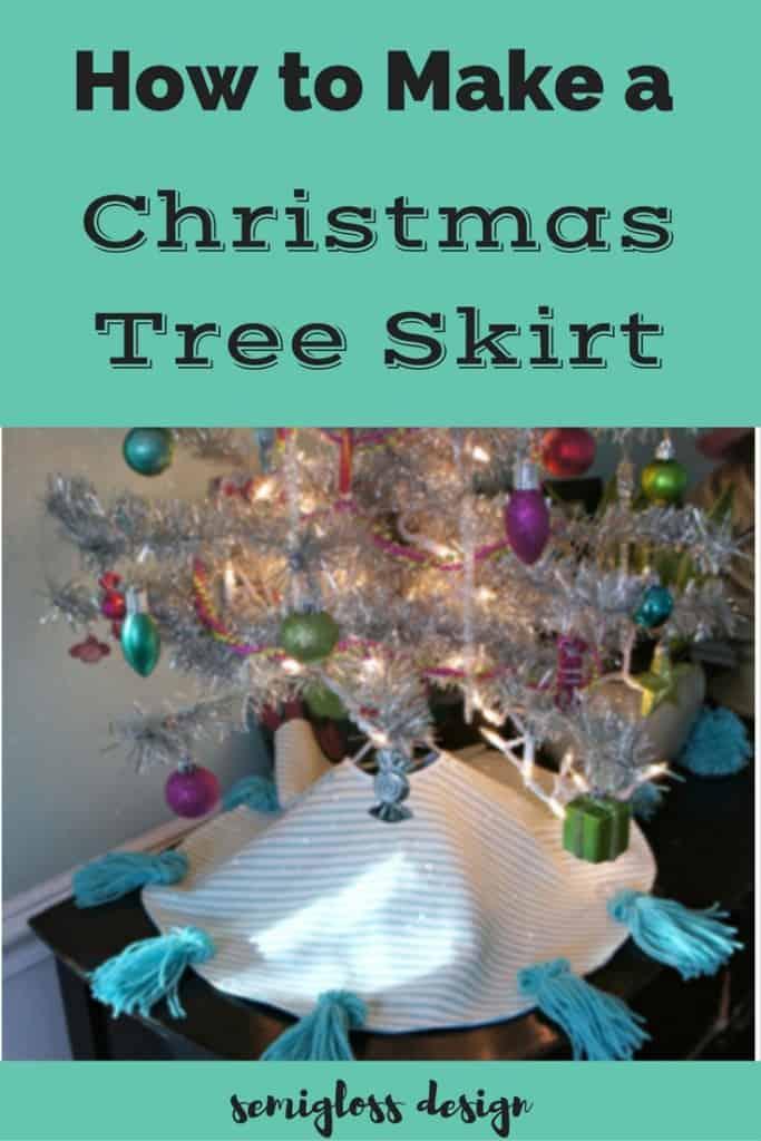 Mini Christmas Tree Skirt Pattern.Diy Christmas Tree Skirt Tutorial Semigloss Design