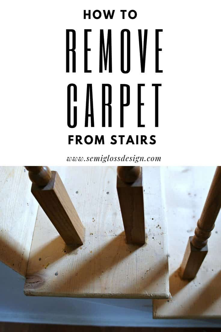 rip carpet off stairs the easy way