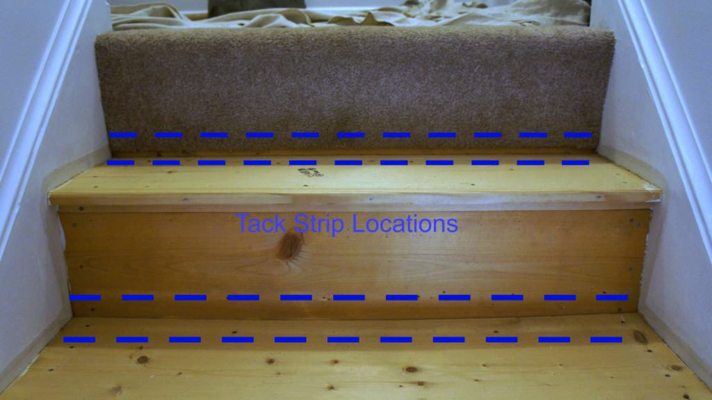 tack strip locations on stairs